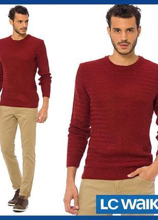 Мужской свитер lc waikiki / лс вайкики цвета терракоты