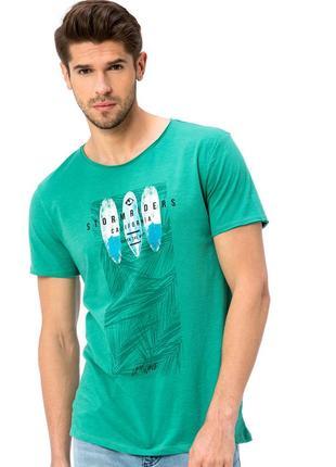 Зеленая мужская футболка lc waikiki / лс вайкики с надписью st...