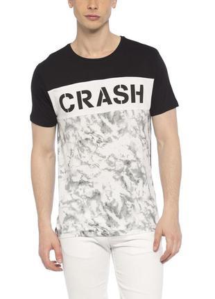 Мужская футболка lc waikiki / лс вайкики с надписью crash