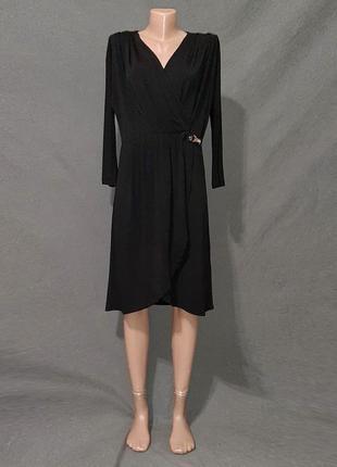 Платье стрейч на запахе. черная пятница скидки до 60%