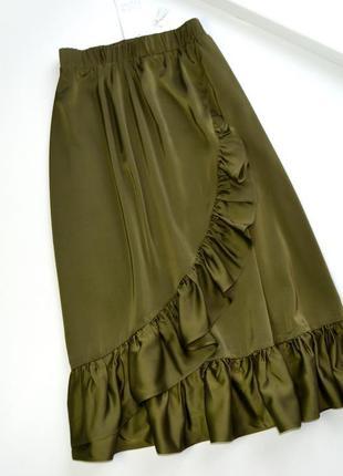 Роскошная свободная юбка с оборками размер хс,с,м