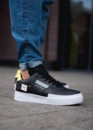 Кроссовки Nike Air Force 1 Low Type Black