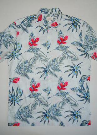 Рубашка гавайская next regular fit гавайка (m)