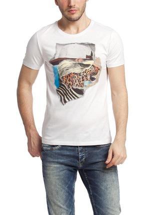 Мужская футболка lc waikiki / лс вайкики белого цвета с рисунк...