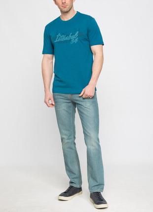 Мужская футболка lc waikiki изумрудного цвета с надписью istan...