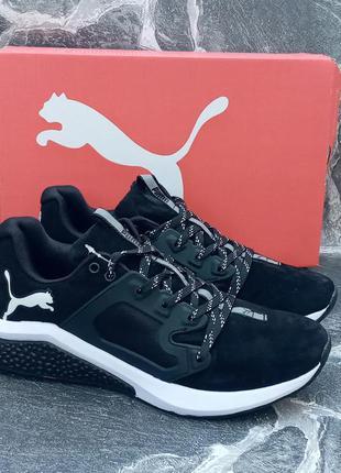 Puma hybrid мужские кроссовки черные,осенние,замшевые