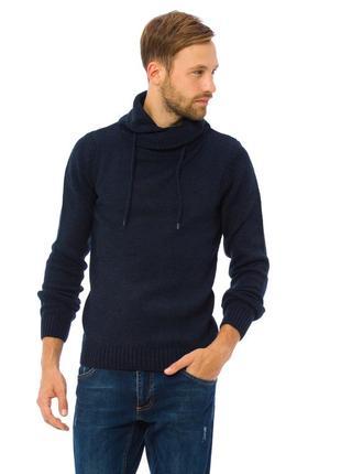Мужской свитер синий lc waikiki / лс вайкики с воротником-хомут