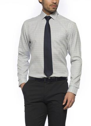 Мужская рубашка lc waikiki / лс вайкики белого цвета в мелкую ...