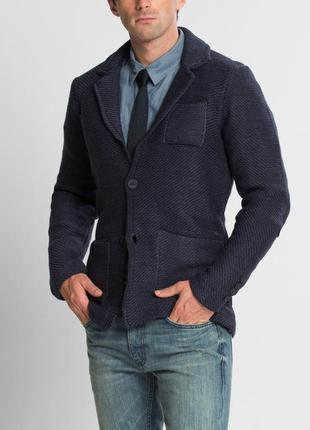 Синий мужской пиджак lc waikiki / лс вайкики с накладными карм...