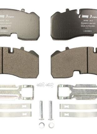 Колодки тормозные  дисковый тормоз  (компл. на ось) BPW (Lumag)