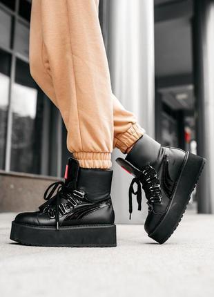 Puma x fenty by rihanna sneaker boot black женские кроссовки н...