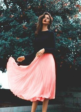 🆕новая с этикеткой!!!шикарная фирменная плессированая юбка