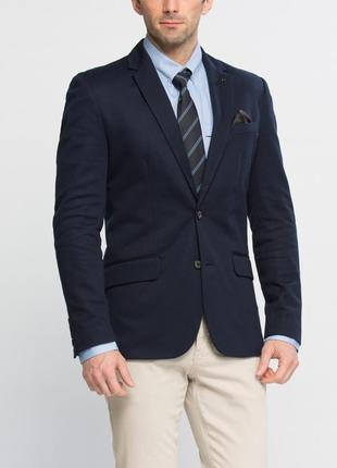 Мужской пиджак классический lc waikiki синий с внутренним карм...
