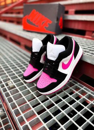 "Кроссовки Nike Air Jordan 1 Low ""White/Black/Pink"