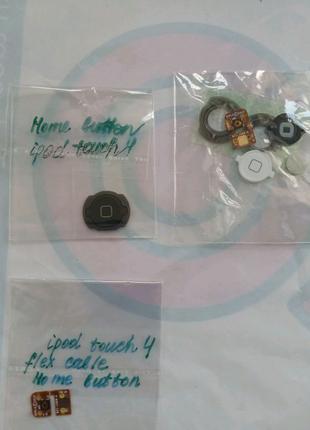 Кнопка Home и шлейф ipod touch 4