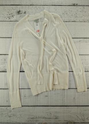 Джемпер женский тонкий с шарфом трикотажная блузка