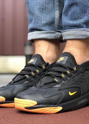 Стильные и удобные Nike Zoom 2K (чёрные с оранжевым)