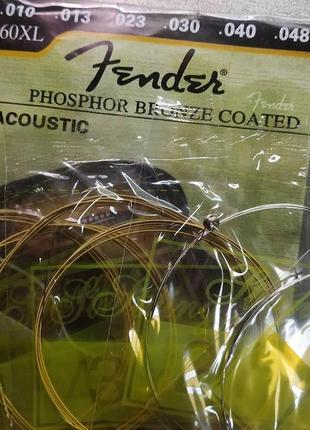 Струны fender для аккутсической гитары золото