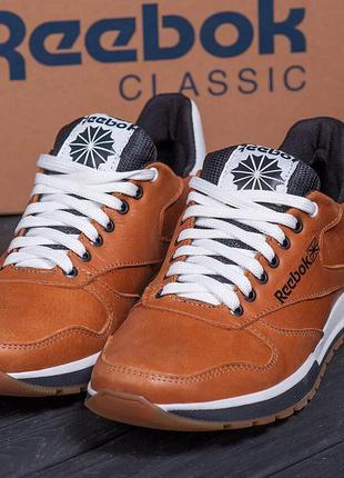 Мужские кожаные кроссовки Reebok