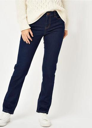 Удобные прямые джинсы цвета индиго р.18