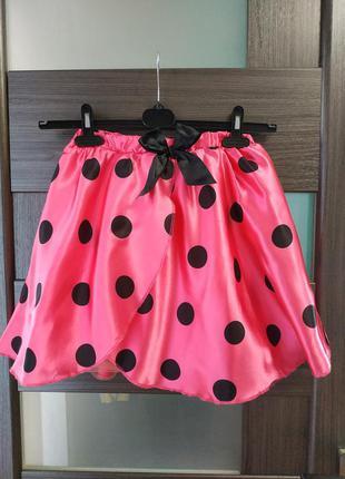 Атласная юбка розовая минни маус,платье минни маус, карнавальн...