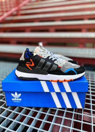 Кроссовки Adidas Nite Jogger Black/White