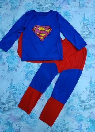 Карнавальный костюм супермена,супергерой на 7-8 лет