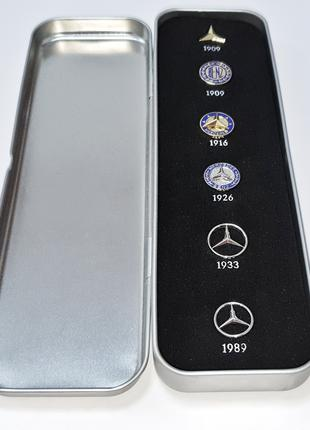 Набор оригинальных значков на одежду Mercedes, подарок мужчине