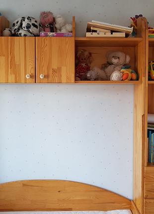 Кровать-шкаф, детская-подростковая из натур. дерева