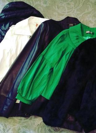 Большой пакет вещей женских.куртки,пиджак, штаны,джинсы,бриджи...