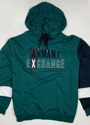 Худи Armani Exchange Colorblock Logo (6GZMAE-ZJ1IZ-6802)