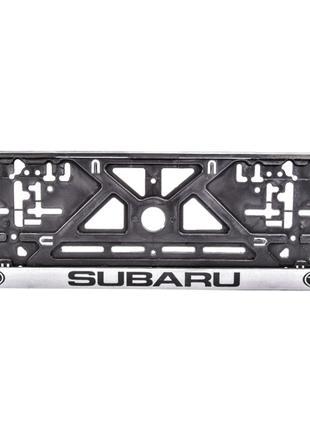 Рамка под номерной знак Subaru Carlife NH29
