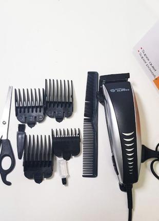 Элкетрическая Машинка для стрижки волос с насадками 4604