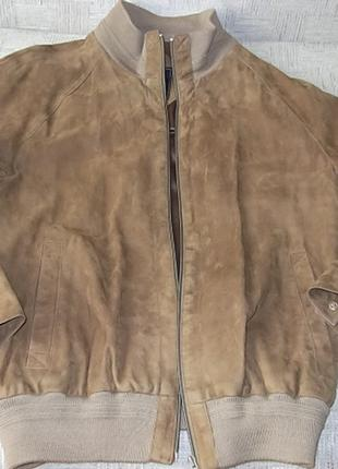 Бомбер Куртка мужская кожаная замшевая германия 50-52