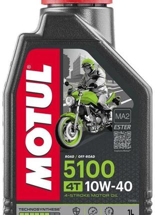 Масло мотоцикл 4T 1л MOTUL 5100 MA2 SAE 10W40 #104066