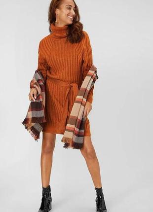 Стильное вязаное платье-свитер yessica