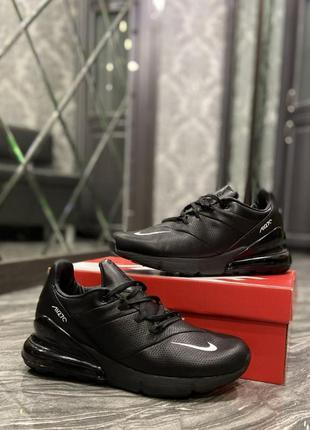 🔥 nike air max 270 leather triple black