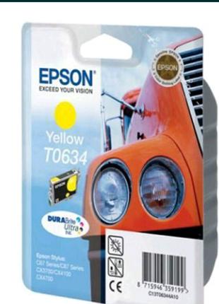 Картридж для принтера-МФУ Epson T0633 (Magenta), T0634 (Yellow)