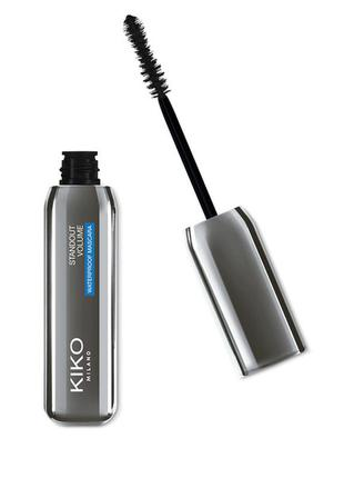 Водостойкая тушь standout volume waterproof mascara kiko milano