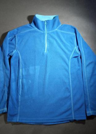 Флиска флисовая кофта микрофлис синяя с горлом
