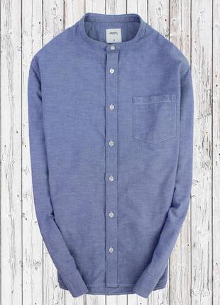 Оксфорд рубашка с воротником стойка
