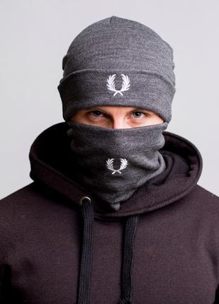 Комплект шапка + баф зимний Fred Perry
