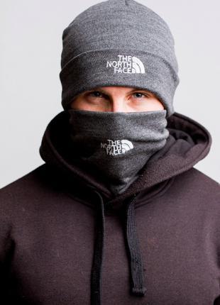 Комплект зимний шапка + баф The North Face