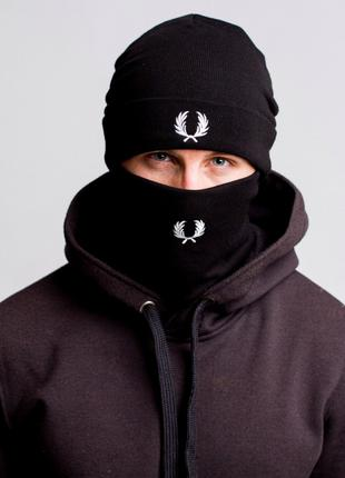 Комплект зимний шапка + баф Fred Perry