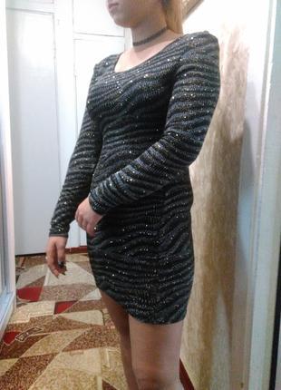 Платье с золотом