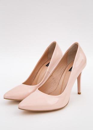 Туфли лодочки на шпильках пудрового цвета