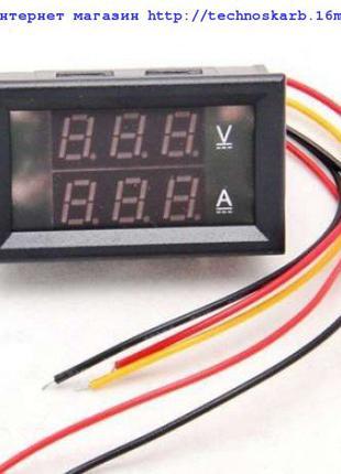 Цифровой вольтметр амперметр вольтметр DC 100V 10А с шунтом