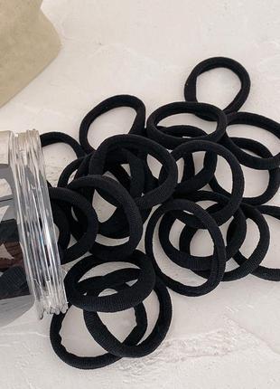 Набор резинок для волос. черные 50 шт.