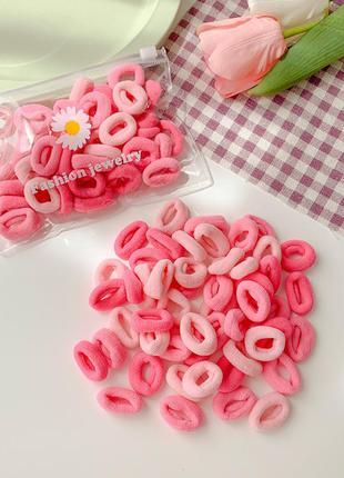 Набор резинок для волос. розовый микс. 3 цвета. 50 штук.