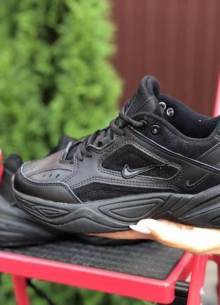 Удобные и модные Nike M2K Tekno (чёрные)